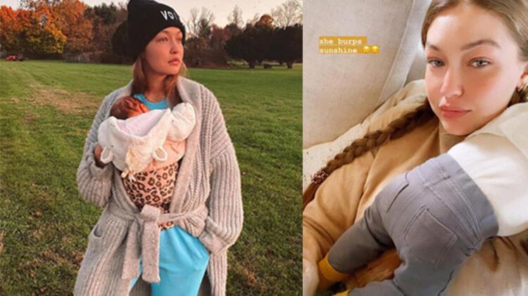Gigi Hadid'den anne-kız pozu