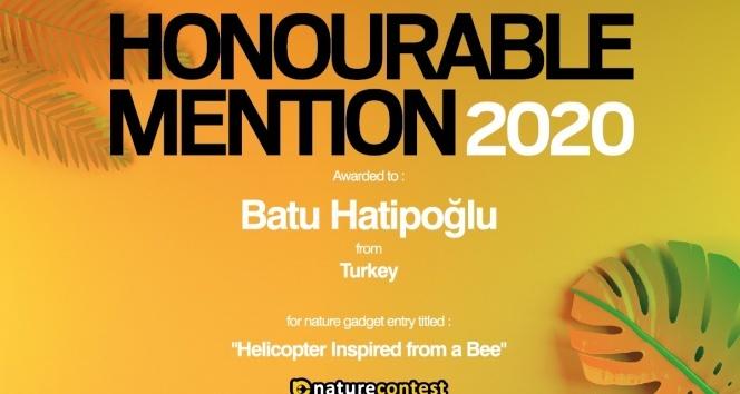 """""""Helicopter Inspired From A Bee"""" projesi Türkiye birincisi oldu"""